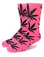 HUF Plantlife Highlighter Neon Pink Crew Socks