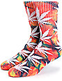 HUF Plantlife Rainbow Tie Dye Crew Socks