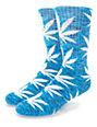 HUF Streaky Plantlife Blue & White Crew Socks