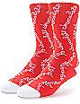 HUF x Chocolate Chunk Red Crew Socks