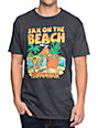Happy Hour Sax on the Beach Heather Black T-Shirt