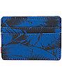 Herschel Supply Charlie Jungle Floral Blue Cardholder Wallet