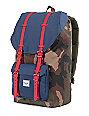 Herschel Supply Co. Little America Woodland Camo, Navy & Red Backpack