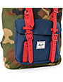 Herschel Supply Co. Little America Woodland Camo, Navy & Red Backpack