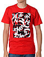 Hurley 3 Squared Mens Red T-Shirt
