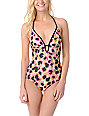 Hurley Animal Print One Piece Bathing Suit