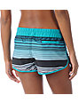 Hurley Beachrider Teal Stripe Super Suede Board Shorts