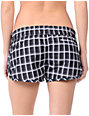 Hurley Black Plaid Super Suede Beachrider Board Shorts