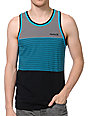 Hurley Blockade Blue Stripe Tank Top