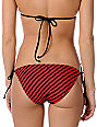 Hurley Look Both Ways Red Stripe Tie Side Bottom