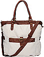 Hurley One & Only Natural Canvas Book Tote Bag
