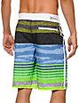Hurley Phantom Faux Stripe Green & Blue 21 Board Shorts