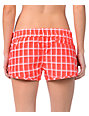 Hurley Super Suede Beachrider Red Plaid  Board Shorts