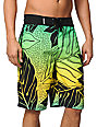 Hurley Zane Hawaiian Print Yellow & Green 22 Board Shorts