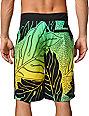 Hurley Zane Hawaiian Print Yellow & Green 22 Board Shorts