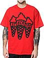 ICECREAM Multi Cone Red T-Shirt