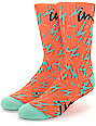 Imperial Motion Bolts Orange Crew Socks