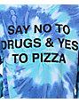 JV By Jac Vanek Say No Blue Tie Dye Crew Neck Sweatshirt