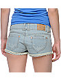 Jolt Sam Lace Pocket Cut-Off Denim Shorts
