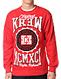 KR3W Contendor Red Crew Neck Sweatshirt