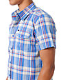 KR3W Dawn Blue Plaid Button Up Shirt