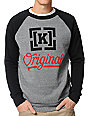 KR3W Original 4 Heather Grey & Black Crew Neck Sweatshirt