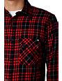 KR3W Porter Red Flannel Shirt