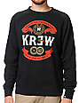 KR3W Superior Charcoal Crew Neck Sweatshirt