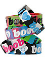 Keep A Breast Assorted Stripe I Love Boobies Bracelet