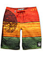 LRG Against The Grain 22 Rasta Board Shorts