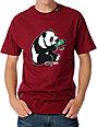LRG CC Panda Mens Maroon T-Shirt