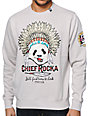 LRG Chief Rocka Grey Crew Neck Sweatshirt