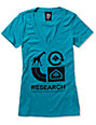 LRG Grass Roots Teal V-Neck T-Shirt