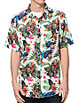 LRG Hawaiian Safari White Button Up Shirt
