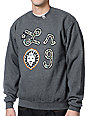LRG Iron Camo Lion Charcoal Crew Neck Sweatshirt