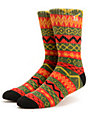 LRG P-R Red Crew Socks