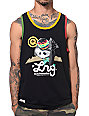 LRG Rasta Panda Black Tank Top