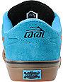 Lakai Manchester Cyan Suede Skate Shoes