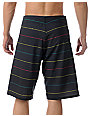 Liquid Force Stepster Black & Rasta 22 Board Shorts