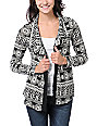 Lira Black & White Flash Cardigan Sweater