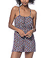 Love, Fire Gage Tribal Crochet Inset Romper