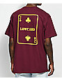 Lowcard 2 Card Maroon T-Shirt