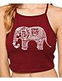 Lunachix Elephant Crop Tank Top