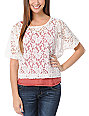 Lunachix Ivory White Lace Crop T-Shirt