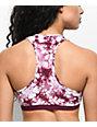 Lunachix Jess Burgundy Tie Dye Lace Up Bralette