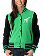 Luxirie Baseball Kelly Green Letterman Sweatshirt