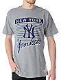 MLB Mitchell and Ness New York Yankees Strikeout Grey T-Shirt