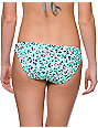 Malibu Cheetah Mint & Grey Tab Side Bikini Bottom