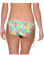 Malibu Electro Wave Multicolor Fringe Side Tie Bikini Bottom