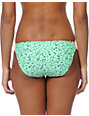 Malibu Warrior Dance Mint & Coral Side Strap Bikini Bottom